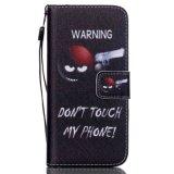 밧줄과 더불어 Samsung G3608/G5308/Note 5/P8/S3/S4/S5/S6를 위한 착색된 당기는 지갑 셀룰라 전화 상자,