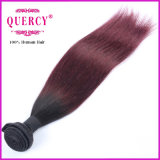 O cabelo de Remy da cor de Ombre da alta qualidade tece o cabelo humano reto peruano