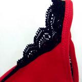 Нижнее белье бюстгальтера девушки оптового красного шнурка женское бельё сексуальное