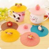 Tutti i generi di animale modella il coperchio del silicone della tazza di tè