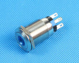 Commutateur de bouton poussoir imperméable à l'eau en métal de la CE 12V LED (LAS1-19F-11D)