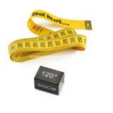최신 판매 노란 주문 의류 3m 두 배 편들어진 측정 테이프