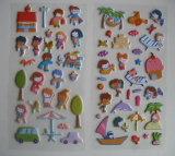 Etiquetas engomadas adhesivas del vinilo de los niños de la historieta de Removeable