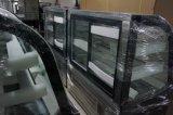 Réfrigérateur en verre incurvé d'étalage de gâteau