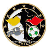 Soft Enamel (Ele-C011)のカスタムFootball Promotional Coin