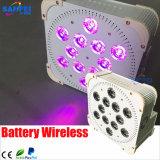 LED 12PCS*18W Rgbwauv 6 en 1 luz sin hilos de la batería
