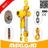 Mécanisme compact 0.5 tonne petit élévateur à chaînes électrique 110V de 1 tonne