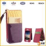 Caja de cuero protectora ultra delgada móvil de la carpeta del teléfono que lleva