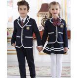 Vestiti su ordinazione di modo del cotone della fabbrica per l'uniforme scolastico degli allievi