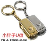 Hotsell com metal do USB da venda por atacado do giro de Keychain (GC-M023)