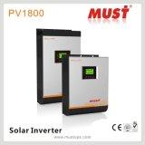 60A MPPT 관제사를 가진 3kVA 2400W 48V 고주파 220VAC 태양 에너지 변환장치