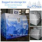 セリウムはロゴのアートワークが付いているフリーズの袋に入れられた氷の収納用の箱を承認した