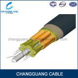 Câble optique de fibre de mémoire tampon de rubrique de Gjbfjv de câble fibre optique de fibre de câble de buts de faisceaux multi multi multi imperméables à l'eau serrés de modes en ligne