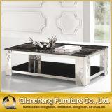 Tavolino da salotto di lusso moderno dell'acciaio del metallo della mobilia della sala da pranzo