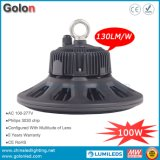 O bulbo 100W IP65 do diodo emissor de luz do UFO Waterproof o Ce RoHS 100-277V 130lm/W 5 anos de garantia