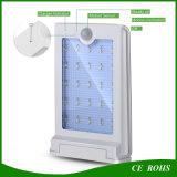 Iluminación solar montada en la pared de aluminio de la luz delgada brillante estupenda al aire libre caliente 20 LED del jardín IP65 del rendimiento energético