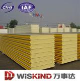 El panel de emparedado del poliuretano de la estructura de acero