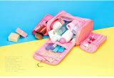 Sac portatif de produit de beauté de course de mode de lavage d'organisateur de sac bonjour de tirette en nylon faite sur commande de Kitty