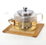 280/650/900ml Handmade Borosilicate Straight Teapot com Infuser