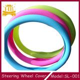 Cubierta colorida barata de encargo del volante del coche del silicón