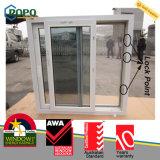Finestra di scivolamento termoresistente del PVC con vetro Basso-e