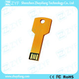 금 금속 주문 로고 (ZYF1727)를 가진 알루미늄 중요한 모양 USB 드라이브