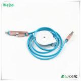 2 novos em 1 cabo retrátil do USB com velocidade rápida (WY-CA01)