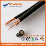 Câble coaxial de liaison Rg59+2c de télévision en circuit fermé de qualité de prix usine