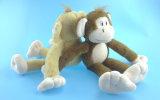 Бежевая заполненная обезьяна игрушки плюша