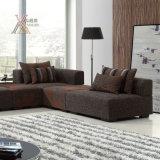 Il sofà del tessuto del salone ha impostato con il reticolo della banda (870A)