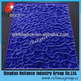 3mm, 4mm, 5mm, 5.5mm, vidro figurado azul vidro figurado/modelado do azul de 6mm