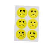 Zelfklevende Ronde Leuke Emoji Sticker, de Sticker van het Beeldverhaal