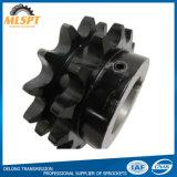 Piñones dobles de acero de la transmisión de potencia del encadenamiento del rodillo del óxido negro