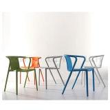 PP 물자 식사 의자 커피 의자