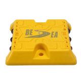 Bornes r3fléchissantes en plastique de route de plot réflectorisé d'ABS durable