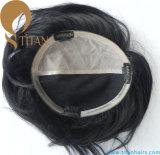Hairpiece coreano do estilo de cabelo curto na cor preta