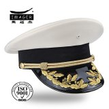 Military bianco Sergeant Corps Cap con Golden Hand Embroidery