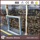 Китайские слябы мрамора золота Nero черные Portoro для стены ванной комнаты