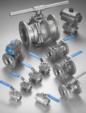 ANSI 150lb rostfrei/Form-Stahl-Kugelventil mit geflanscht