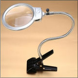 LED Light Handle Desk Clamp Magnifier Lamp Presente popular (EGS-15123-B)