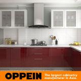 Gabinetes de cozinha modulares por atacado de madeira da laca em forma de L moderna (Op16-L02)