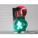 semaforo pedonale verde rosso di 300mm con il temporizzatore di conto alla rovescia