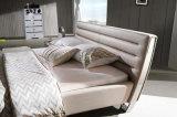 Base de couro estofada moderna Hc323 da mobília do quarto