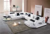Wohnzimmer-Möbel-modernes ledernes geschnittenhauptsofa
