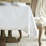 Blanco 100% Cotton Hotel Mantel Servilleta / Mantel (DPFR80125)