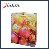 Pas het Glanzende Gelamineerde Document van de Kunst aan schitteren de Zak van de Gift van de Verpakking van Kerstmis
