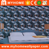 Papel de parede decorativo do PVC de 2016 projetos 3D os mais atrasados