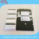 Bac à cartes plat blanc de PVC de jet d'encre pour Epson L1800