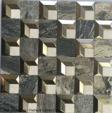 2016 Las últimas Plaza de mármol del azulejo mixto de acero inoxidable del mosaico (FYSM106)