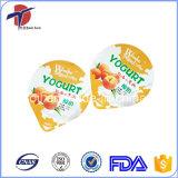 Tampas gravadas da folha de alumínio do Yogurt
